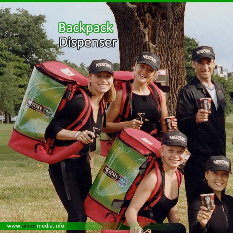 Backpack Dispenser for Promotion
