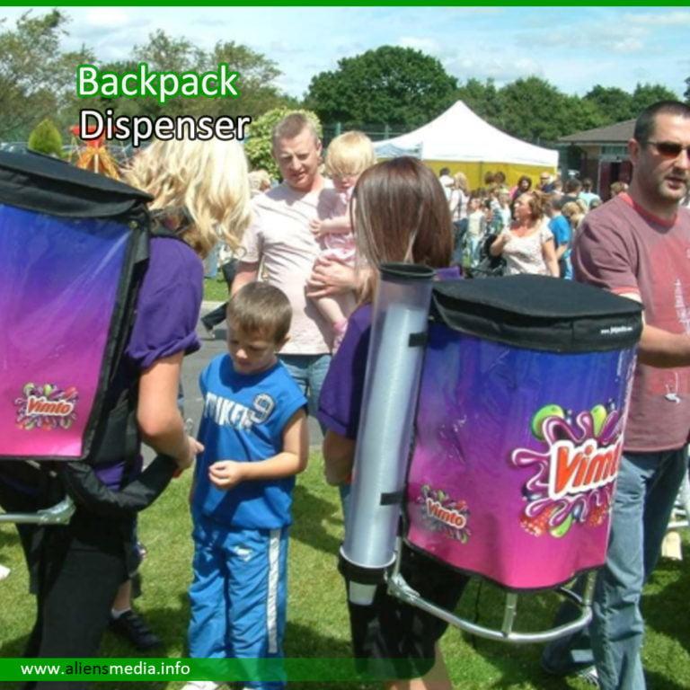Backpack Dispenser for Sampling