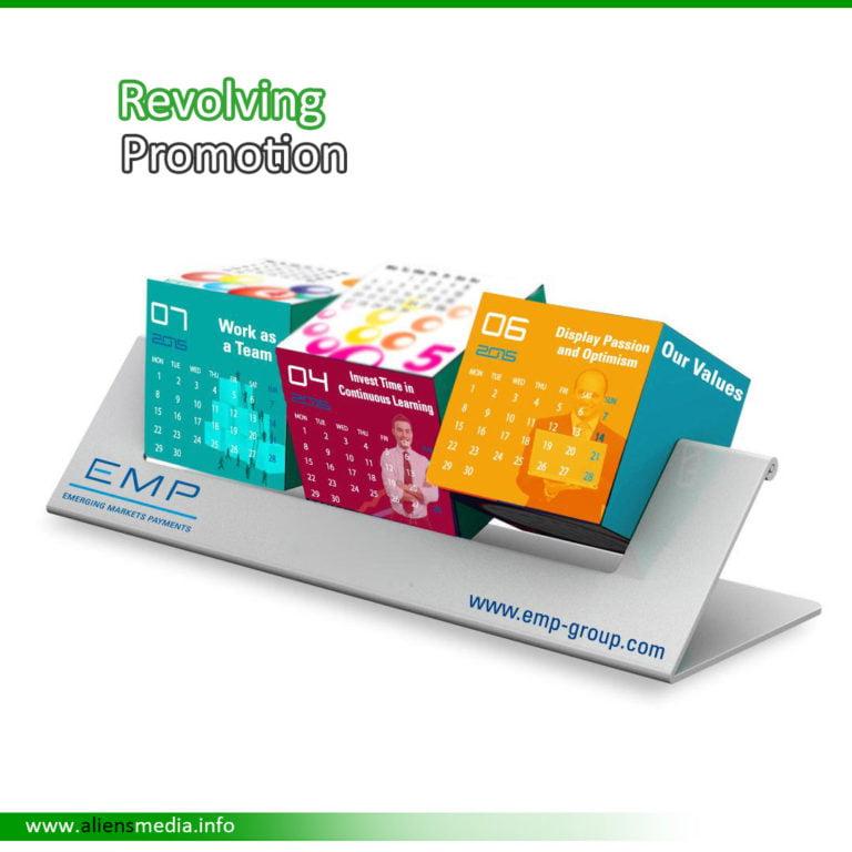 Revolving Calendar Cube