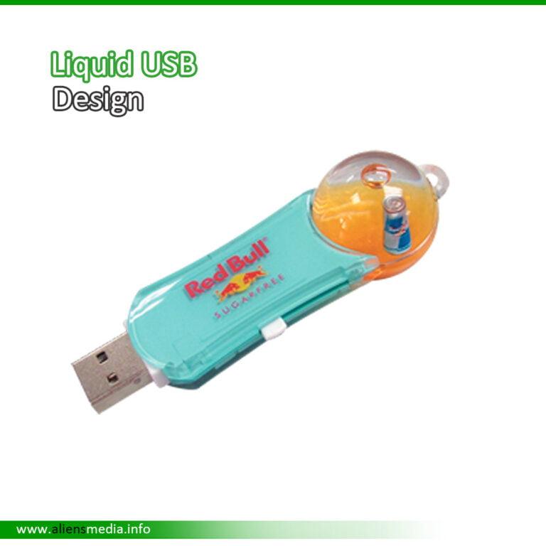 Liquid Aqua USB Design